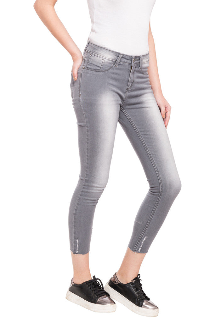 Skinny Fit Cropped Denims-4