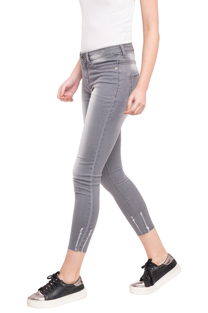 Skinny Fit Cropped Denims-5