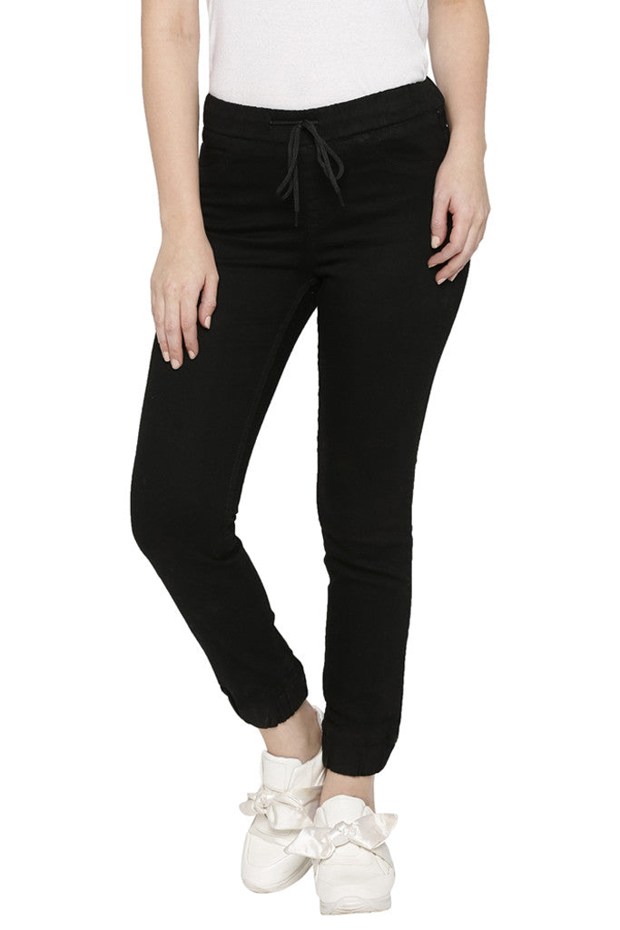 Solid Skinny Fit Denims-1
