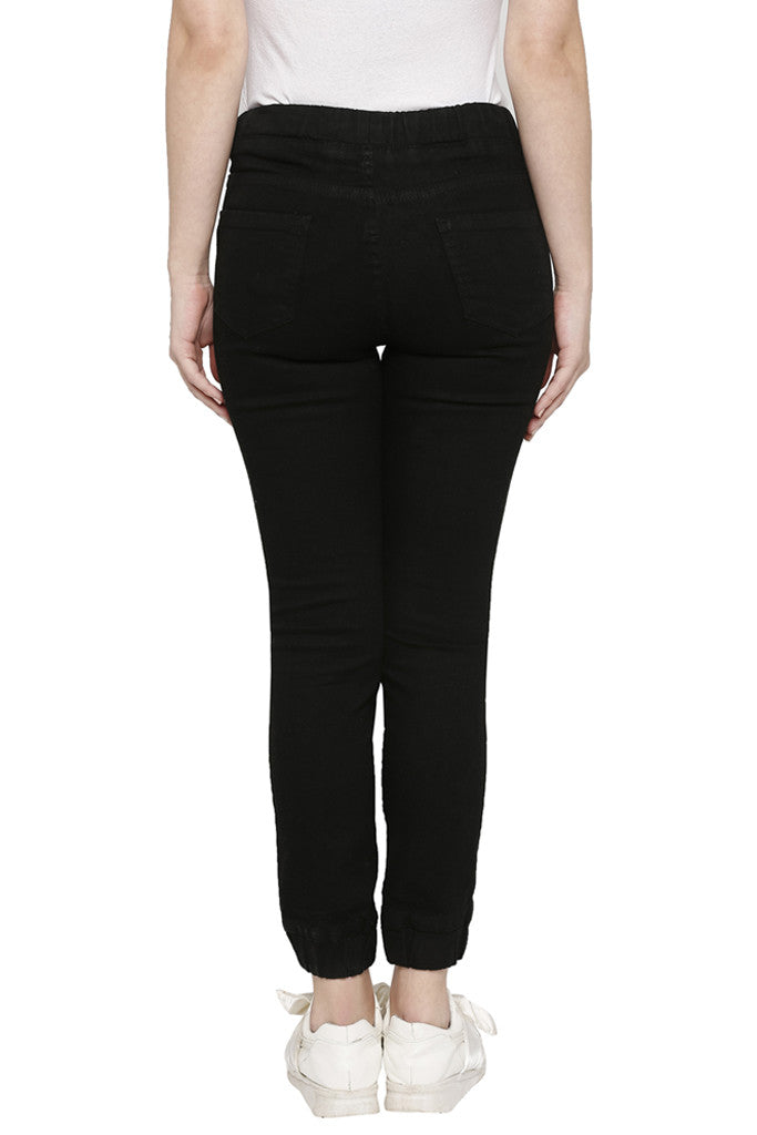 Solid Skinny Fit Denims-3