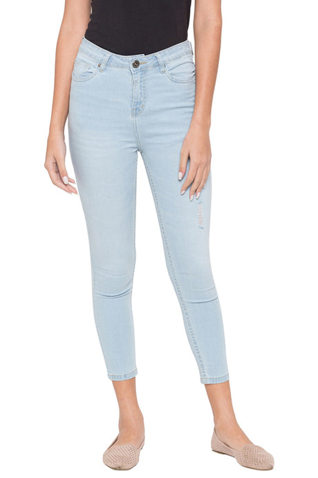 Cropped High Waist Denims-1