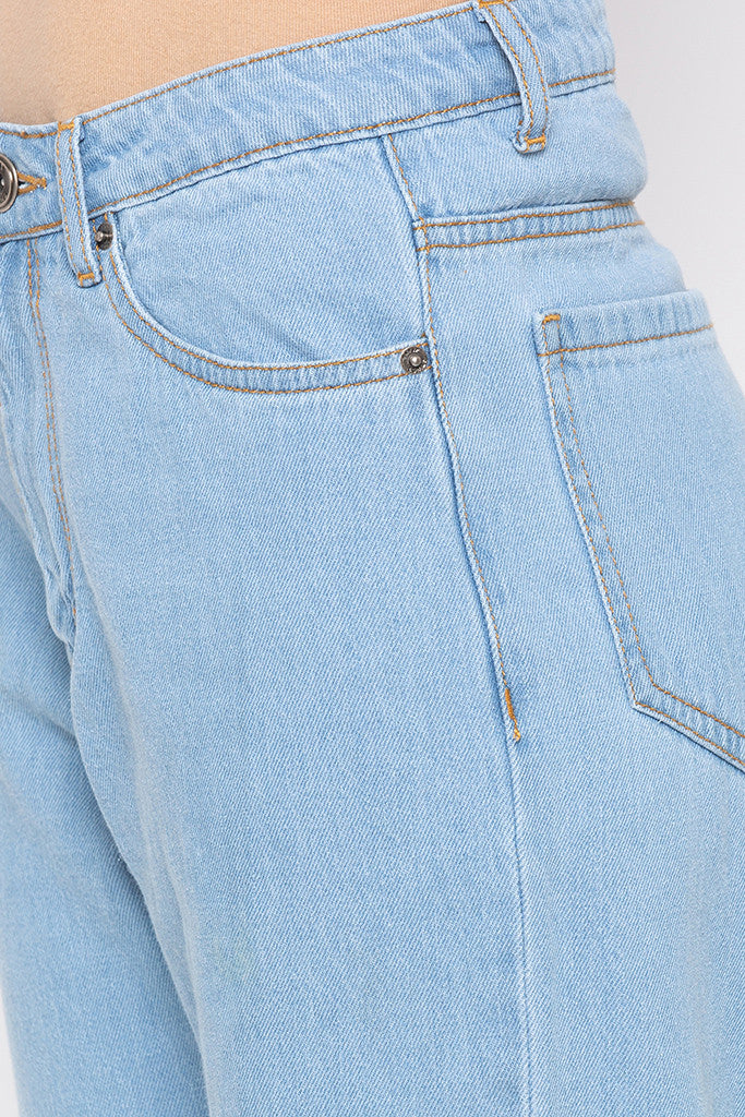 Patched Solid Denims-5