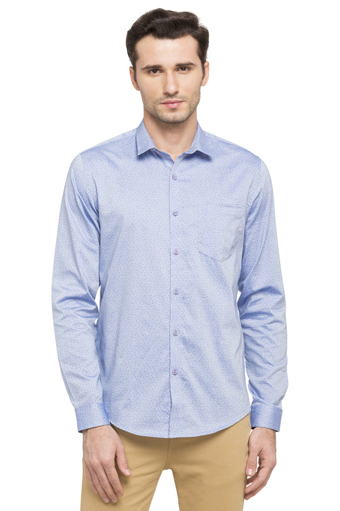 Printed Slim Fit Smart Casual Shirt-1