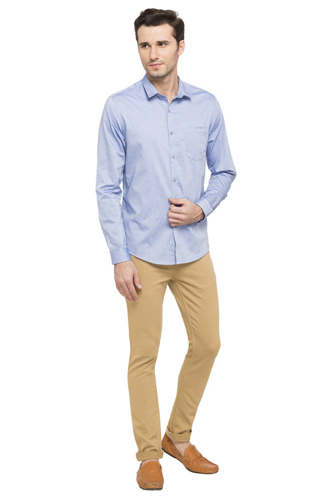Printed Slim Fit Smart Casual Shirt-2