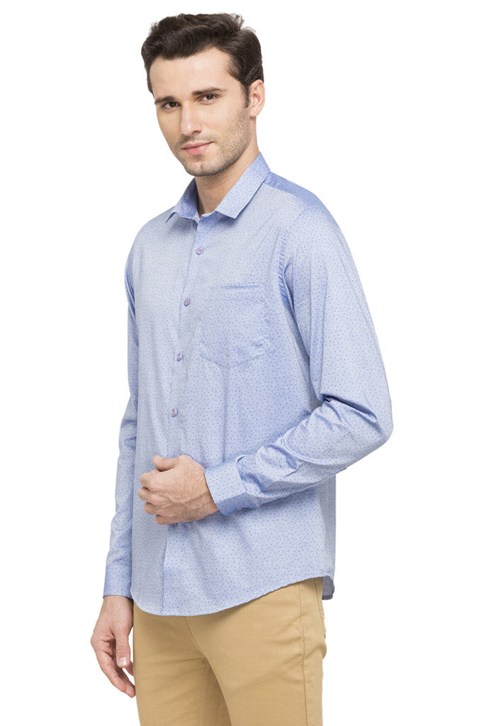 Printed Slim Fit Smart Casual Shirt-5