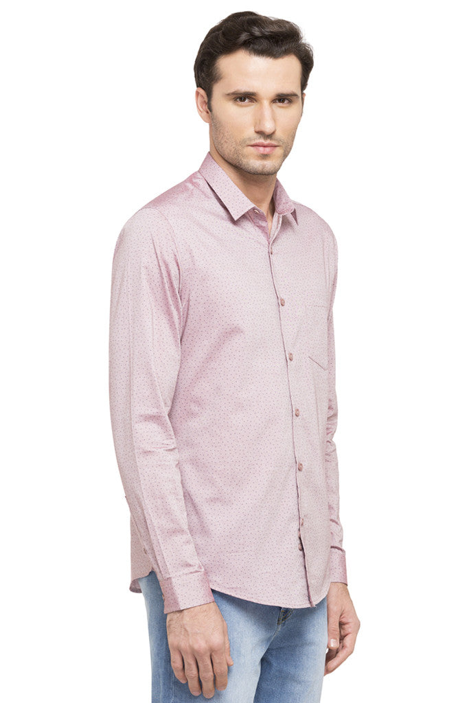 Printed Slim Fit Smart Casual Shirt-4