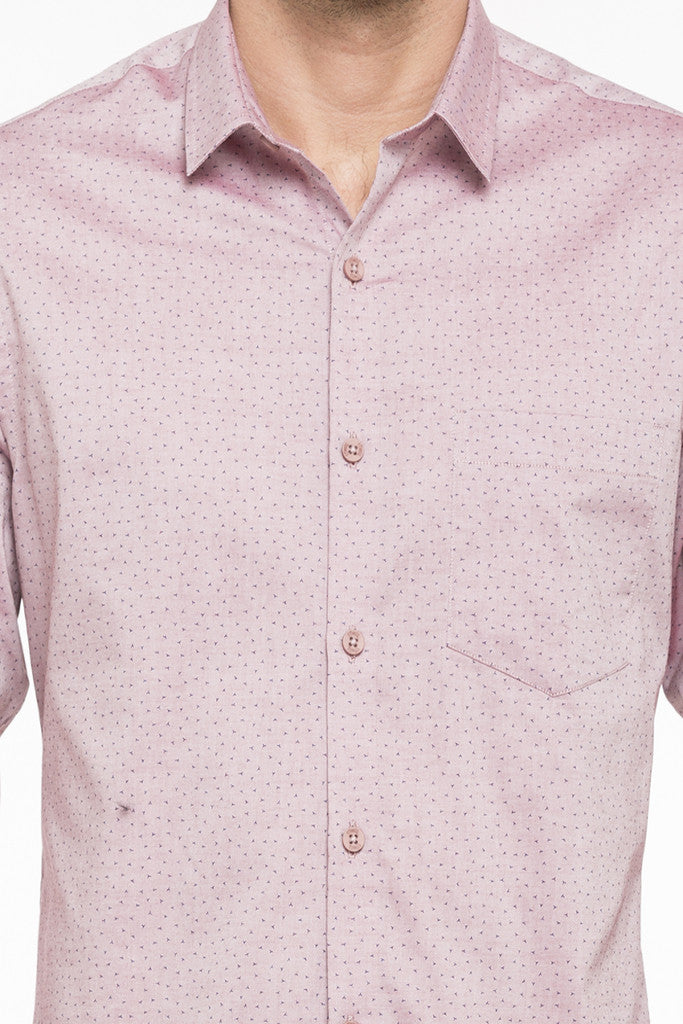 Printed Slim Fit Smart Casual Shirt-6