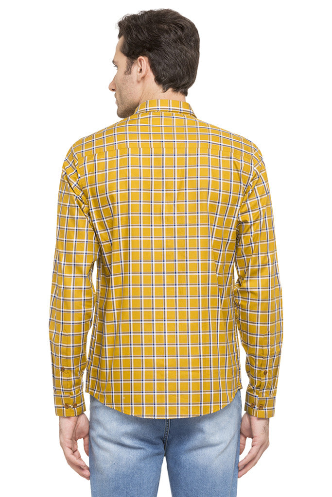 Slim Fit Checked Smart Casual Shirt-3