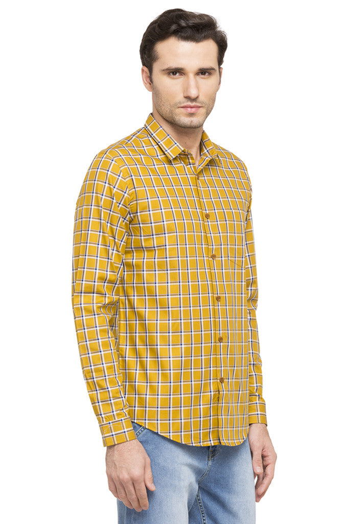Slim Fit Checked Smart Casual Shirt-4