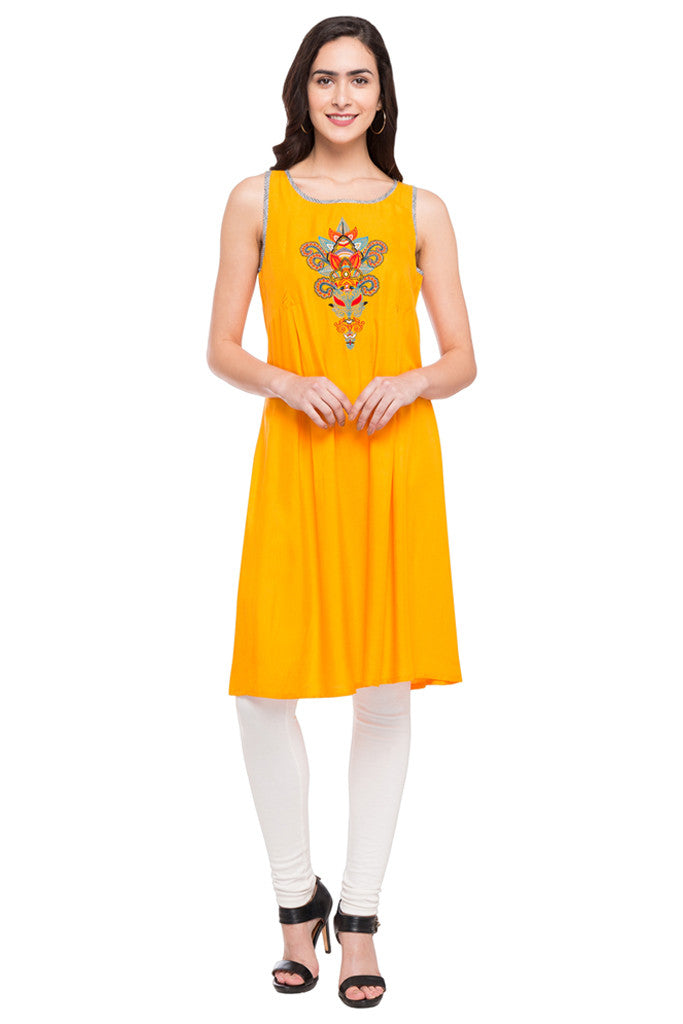 Embroidered Slip-On Tunic-1