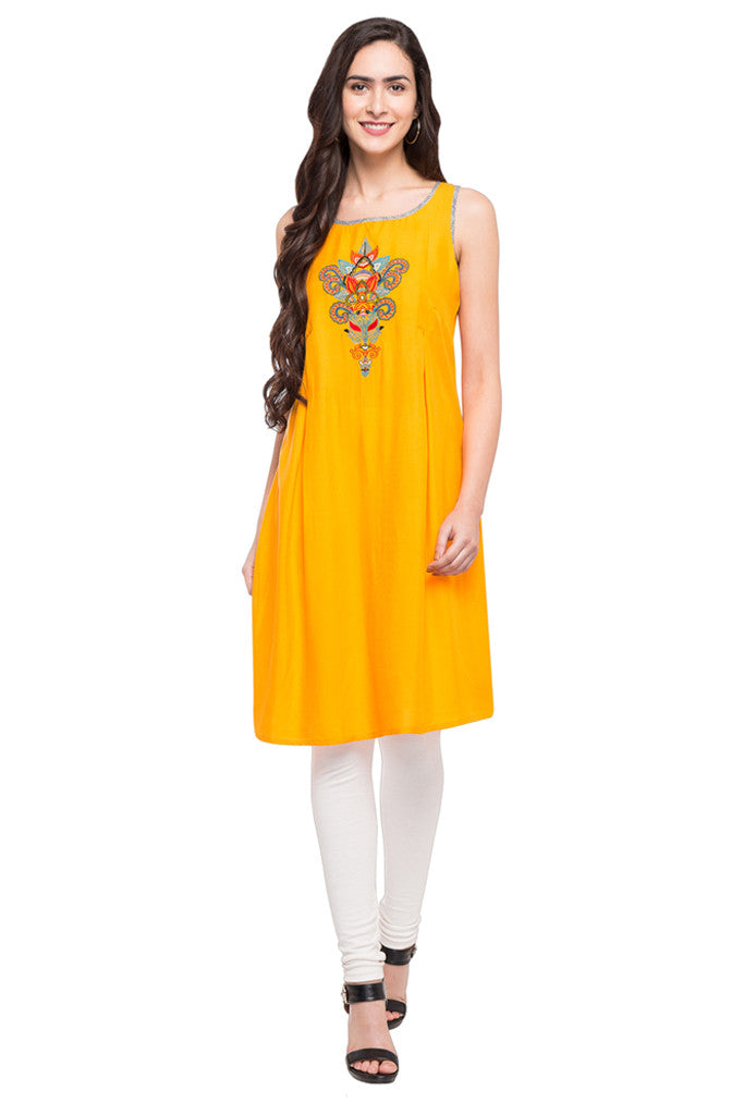 Embroidered Slip-On Tunic-2