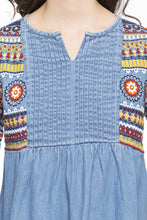 Load image into Gallery viewer, Embroidered Denim Top-6