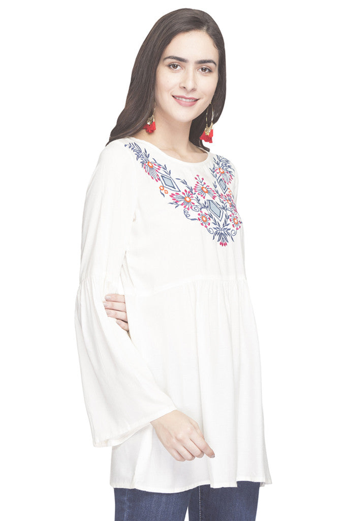 Embroidered Bell Sleeved Tunic-4