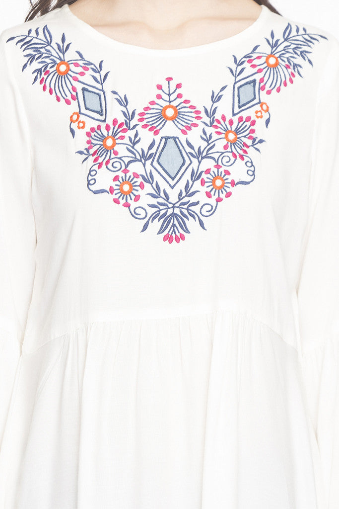 Embroidered Bell Sleeved Tunic-6