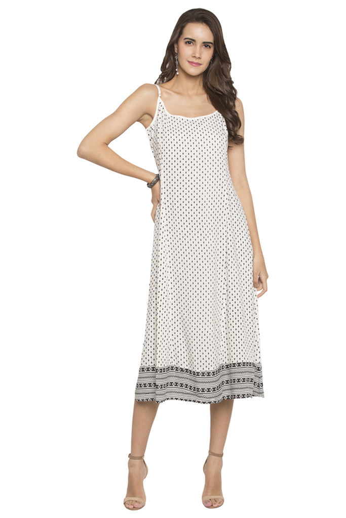 Printed Panelled Dress-2
