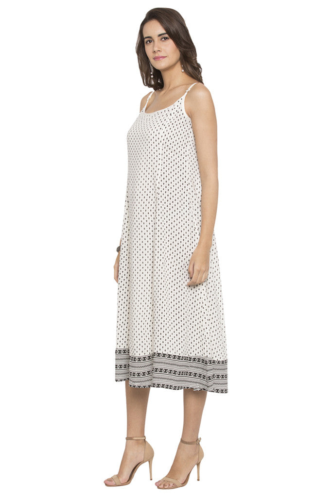 Printed Panelled Dress-4
