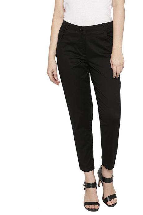 Solid Cigarette Trousers-1
