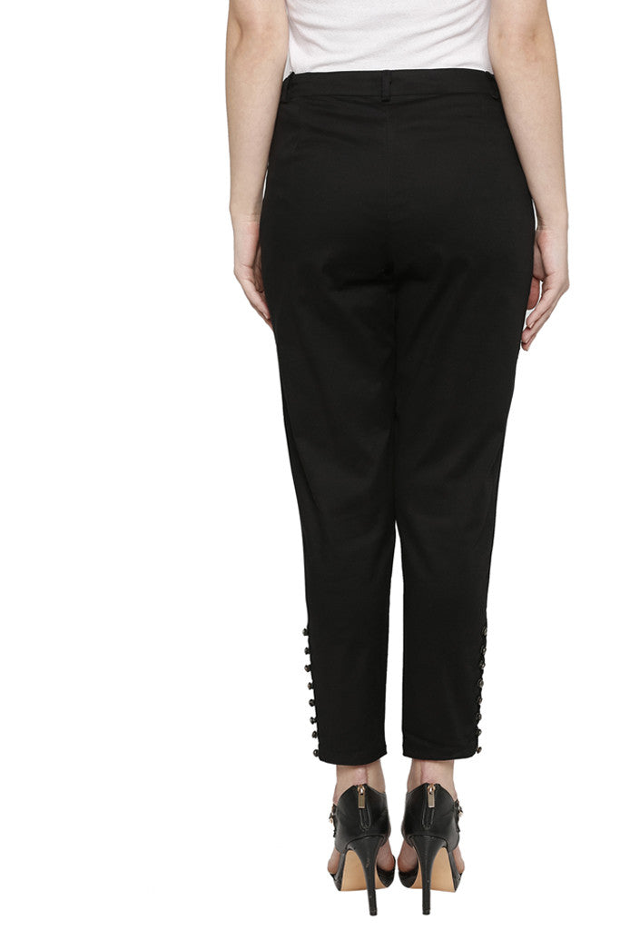 Solid Cigarette Trousers-3