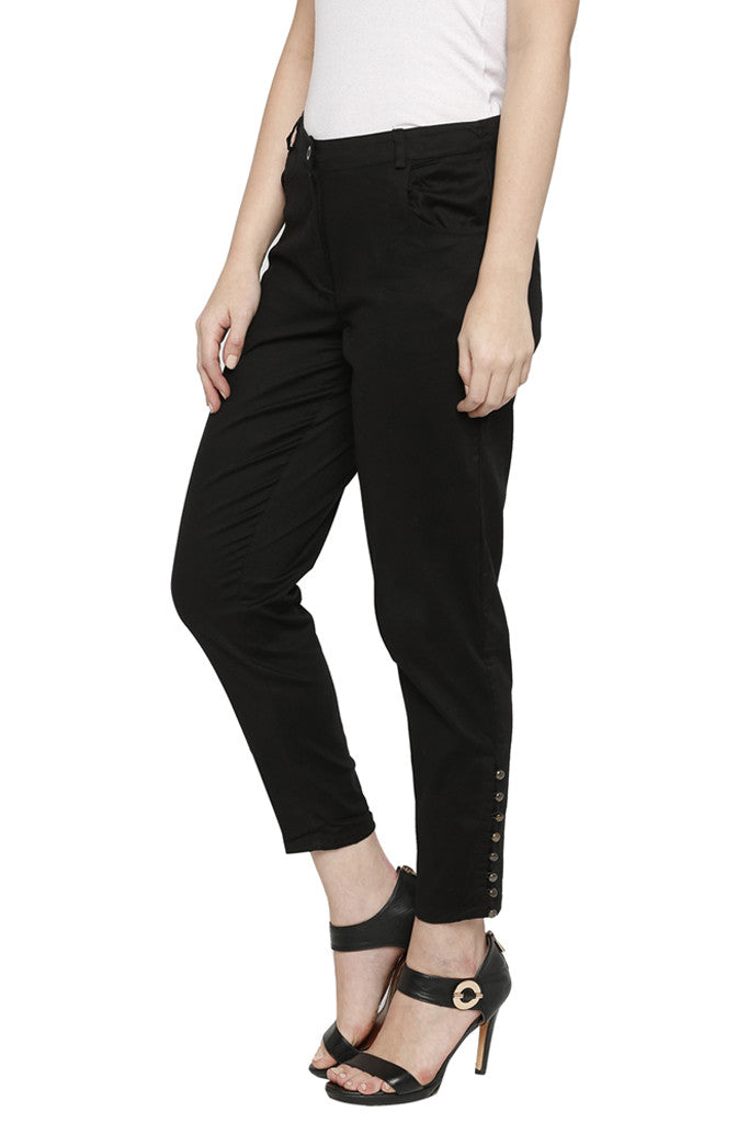 Solid Cigarette Trousers-4
