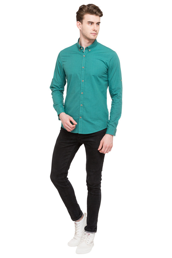 Solid Casual Shirt-2
