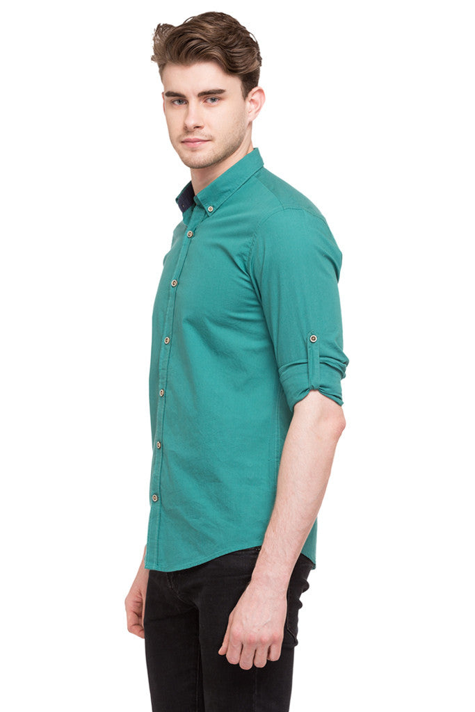 Solid Casual Shirt-5