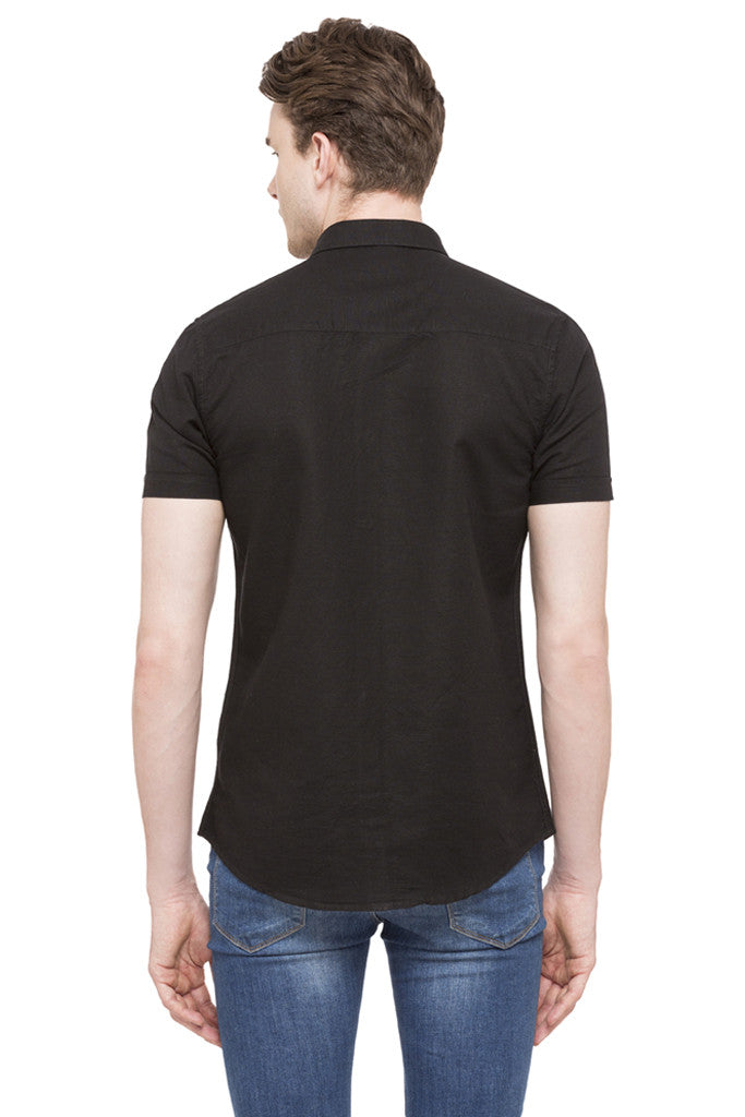 Solid Short Sleeved Shirt-3