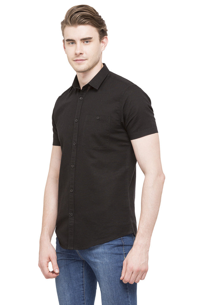 Solid Short Sleeved Shirt-5
