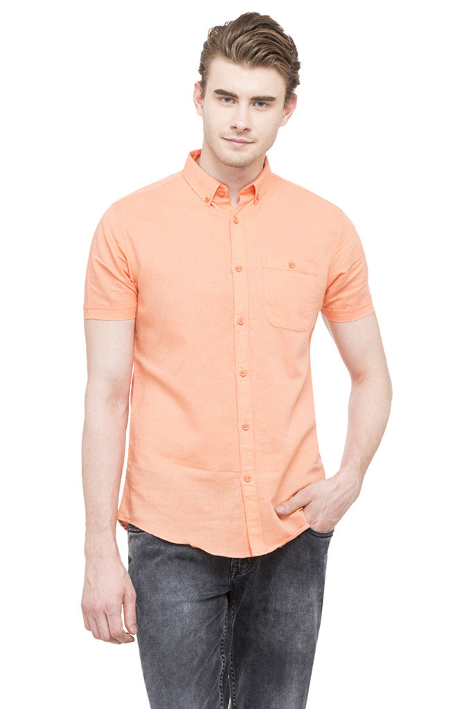 Solid Short Sleeved Shirt-1