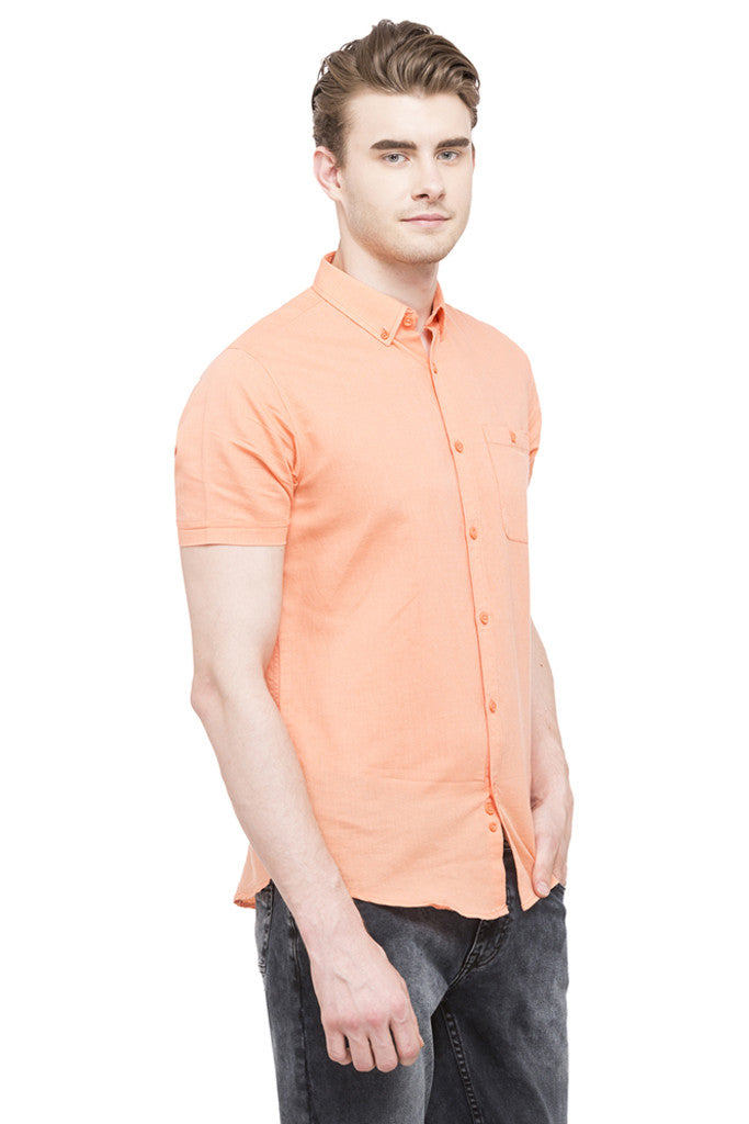 Solid Short Sleeved Shirt-4
