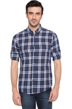 Load image into Gallery viewer, Checked Navy Blue Casual Shirt-1