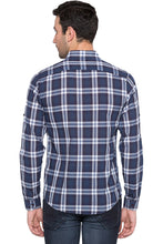 Load image into Gallery viewer, Checked Navy Blue Casual Shirt-3