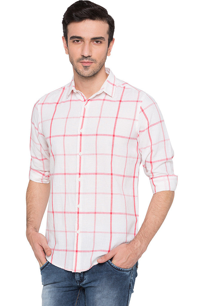 Checked Watermelon Casual Shirt-1