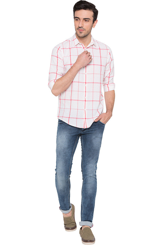 Checked Watermelon Casual Shirt-2