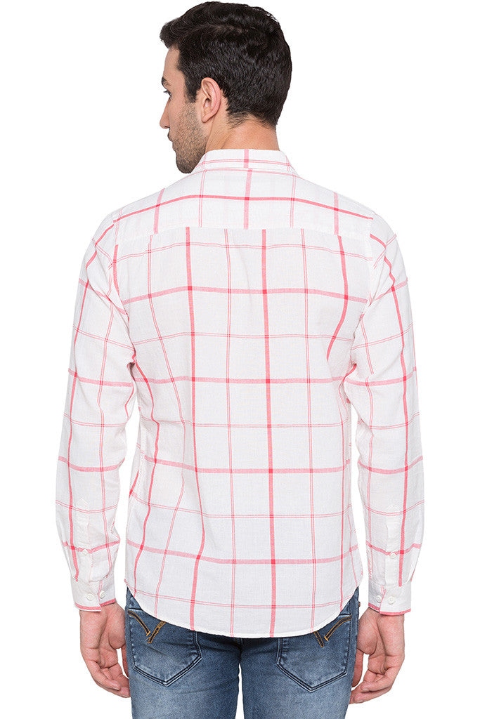 Checked Watermelon Casual Shirt-3