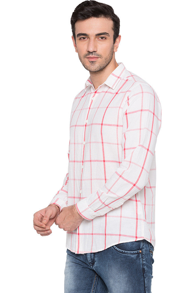 Checked Watermelon Casual Shirt-4