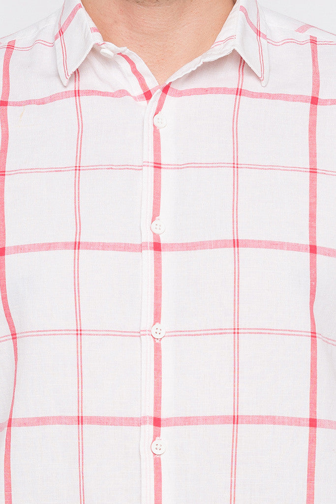 Checked Watermelon Casual Shirt-5