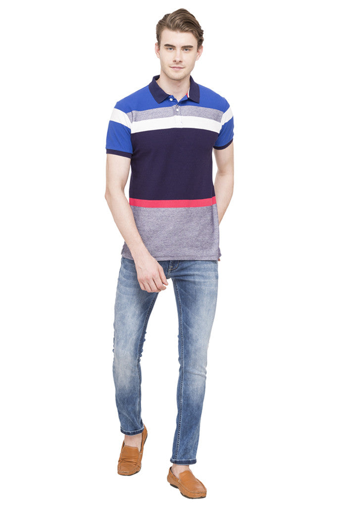 Polo Neck Short Sleeved T-shirt-2