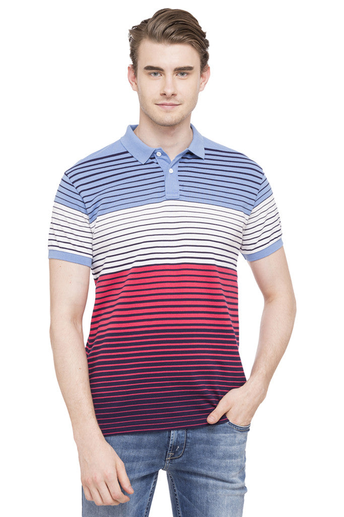 Polo Neck Short Sleeved T-shirt-1