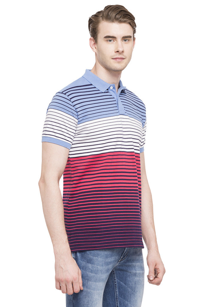 Polo Neck Short Sleeved T-shirt-4