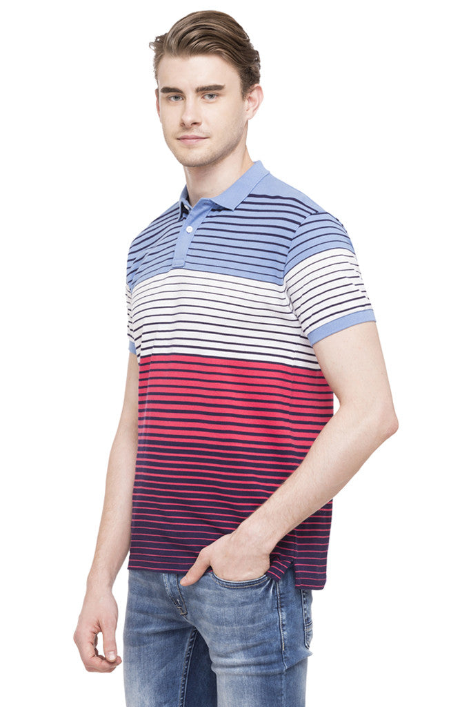 Polo Neck Short Sleeved T-shirt-5