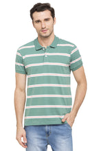 Load image into Gallery viewer, Striped Short Sleeve Polo T-shirt-1