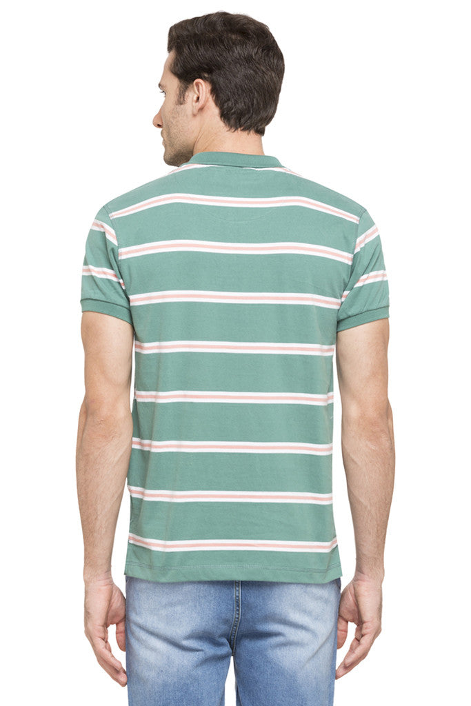 Striped Short Sleeve Polo T-shirt-3