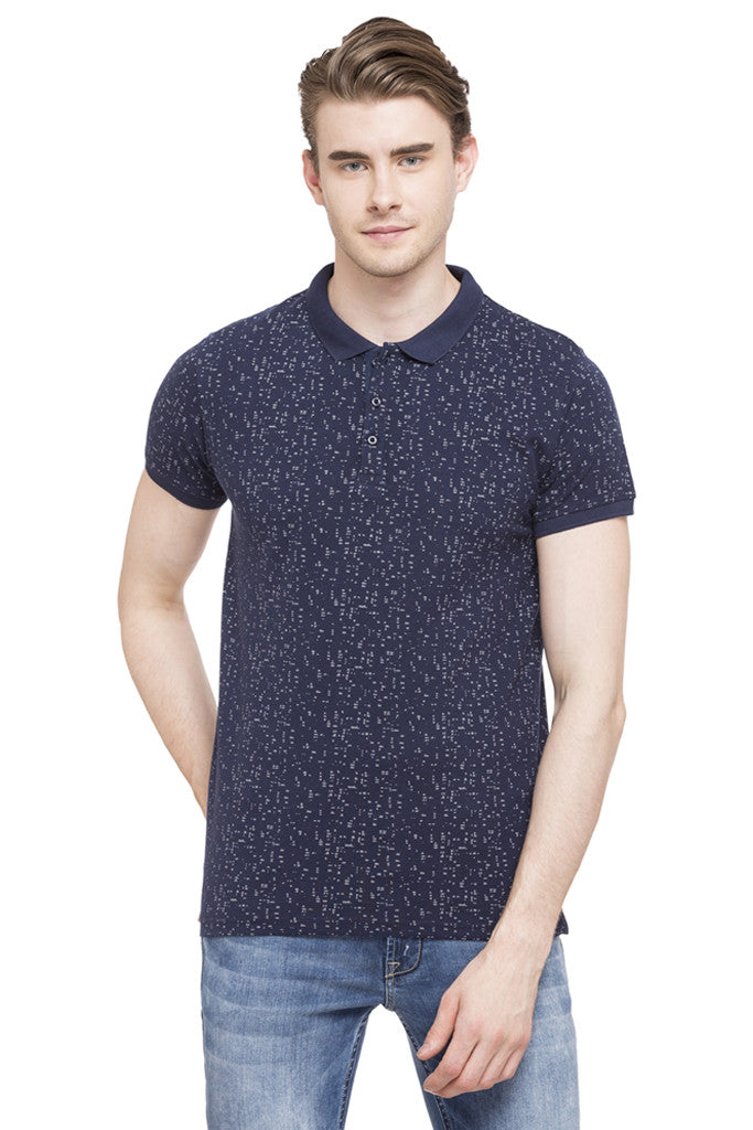 Printed Polo Collar T-shirt-1