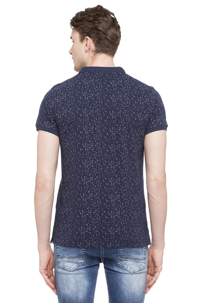 Printed Polo Collar T-shirt-3