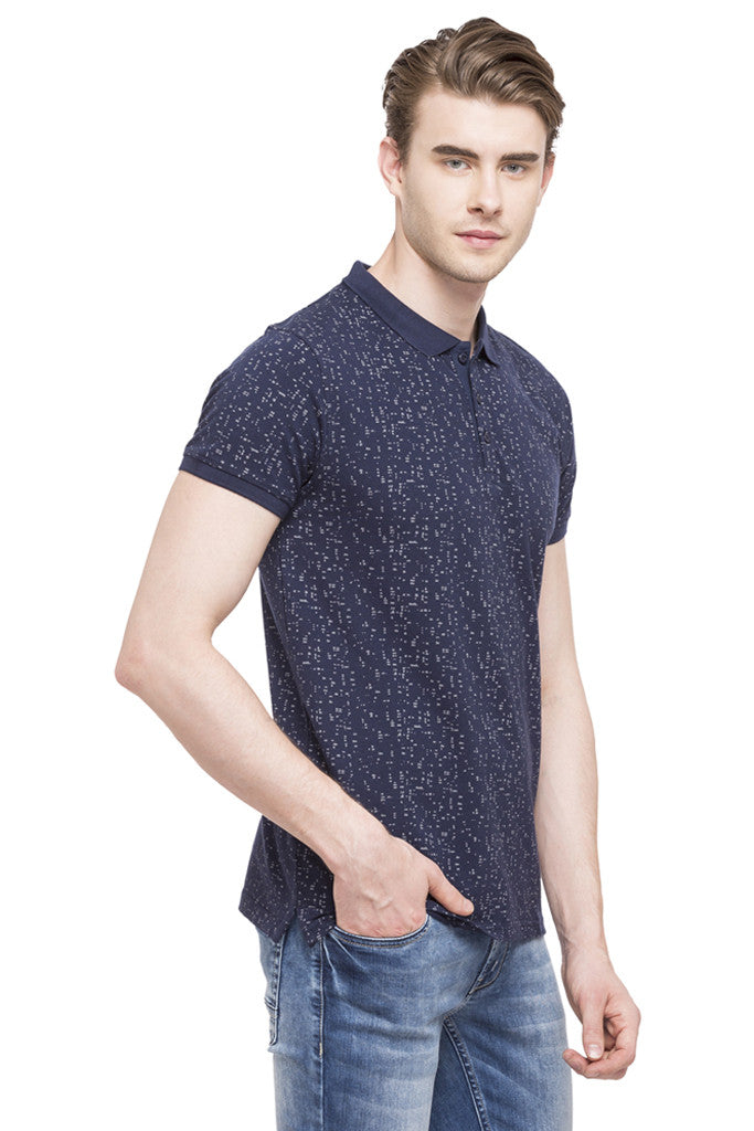 Printed Polo Collar T-shirt-4