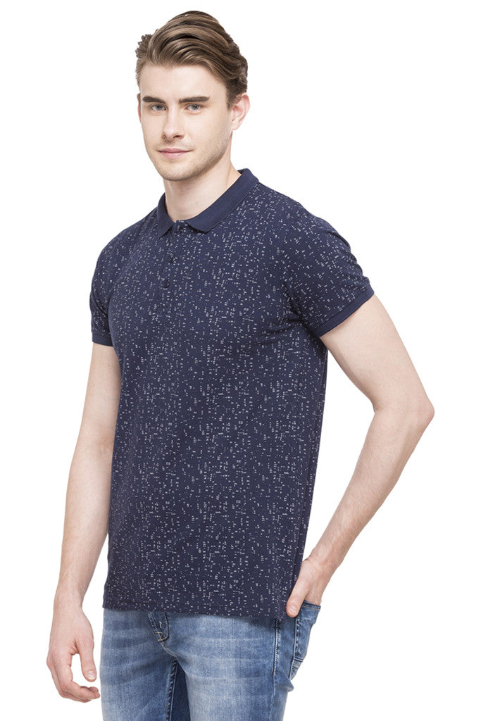 Printed Polo Collar T-shirt-5