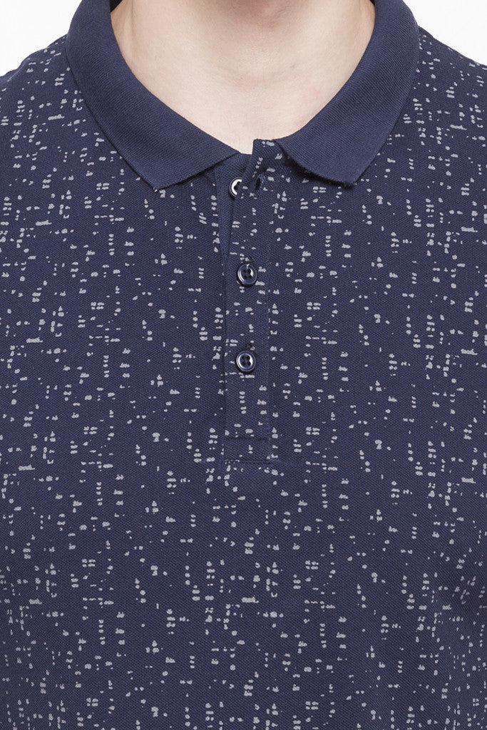 Printed Polo Collar T-shirt-6