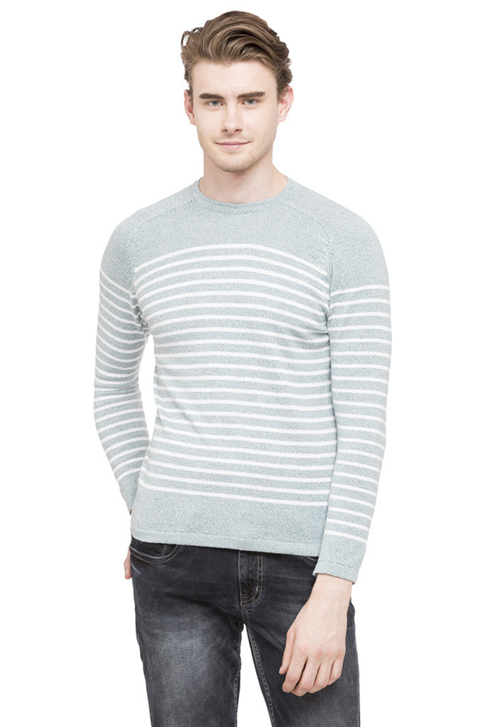 Round Necked Striped T-shirt-1