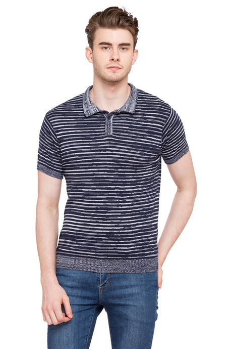Striped Polo T-shirt-1