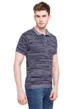 Load image into Gallery viewer, Striped Polo T-shirt-4
